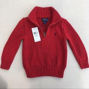 NWT! Beautiful Ralph Lauren Cotton Sweater - 2T
